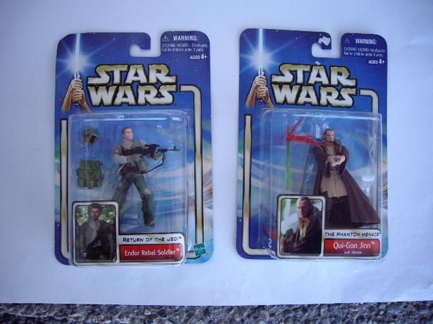 STAR WARS FIGURES IN BOXES RETURN OF THE JEDI AND THIS PHANTOM MENACE