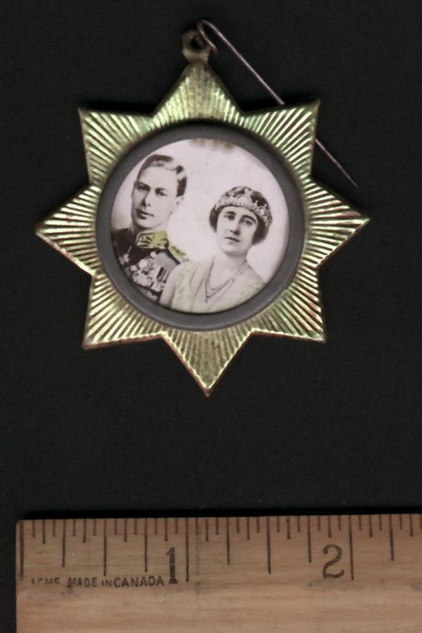 Vintage Royalty Pin of George VI Queen Mother