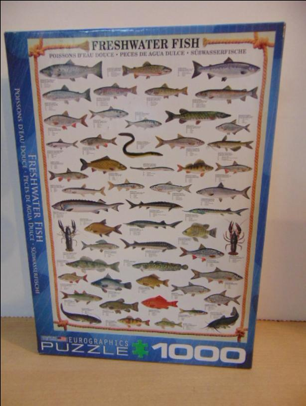 Jigsaw Puzzle Eurographics 1000 Pc Fresh Water Fish Complete