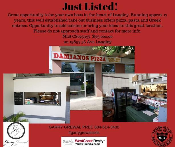 Established Pizza restaurant for sale