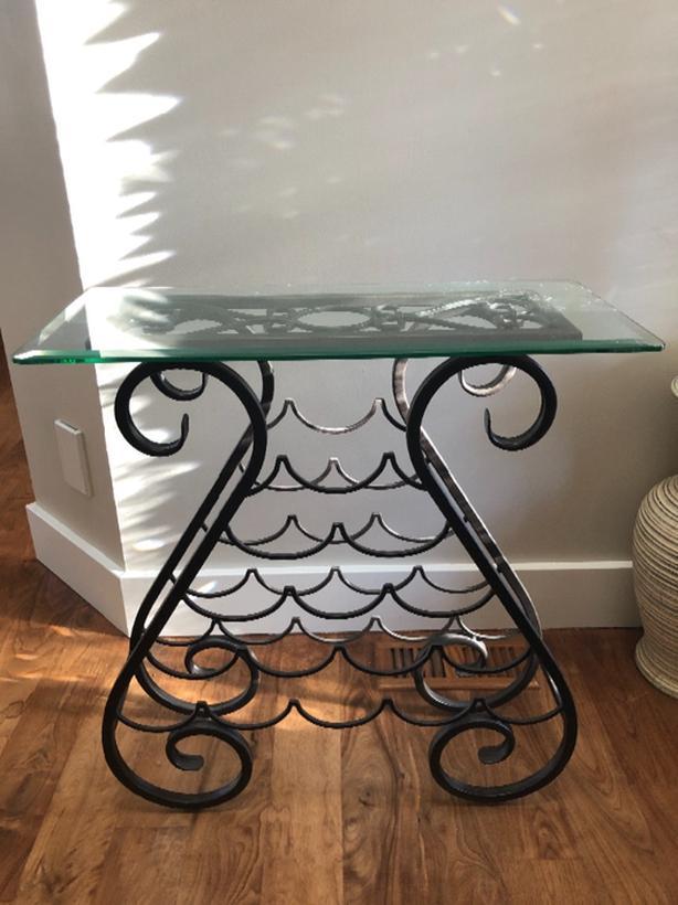 Wine rack - glass top