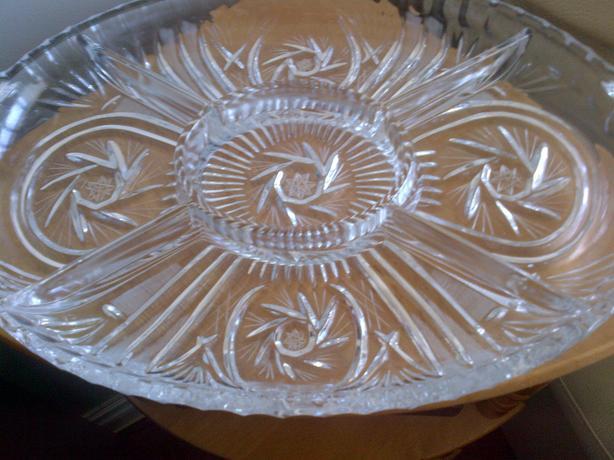 Pinwheel Star Lead Crystal Platter/Serving Dish