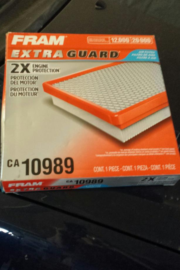 New Fram Extra guard air filter