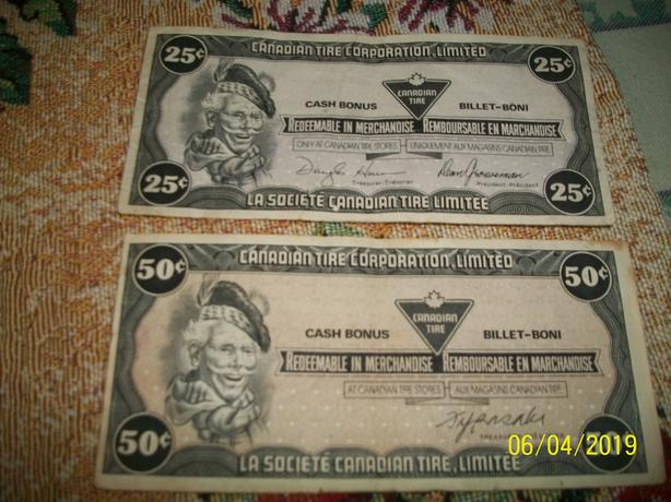 Best Offer-Vintage Canadian Tire Money Summerside, PEI - MOBILE
