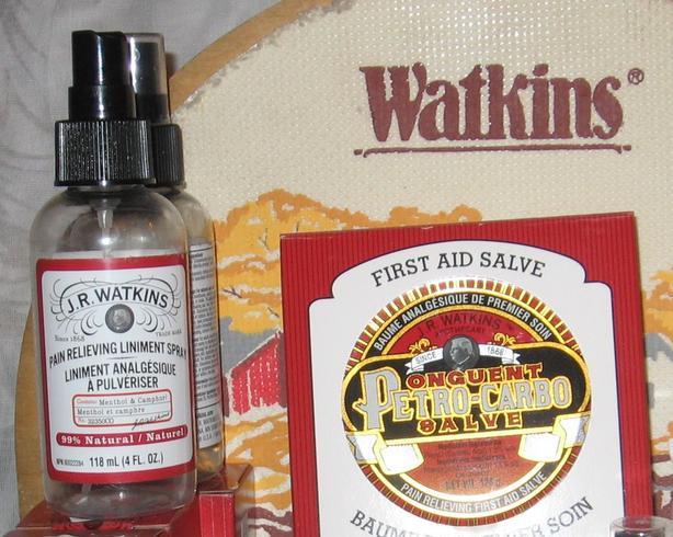 J.R.Watkins  Petro Carbo Salve and Pain Releiving Liniment