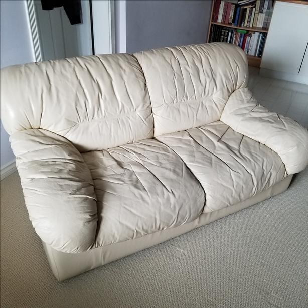 FREE: Leather Loveseat