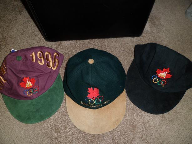 Three Vintage Olympic Caps