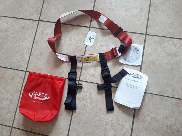 """Cares"" airline baby seat belt"