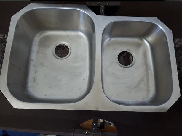 Sink, double stainless steel