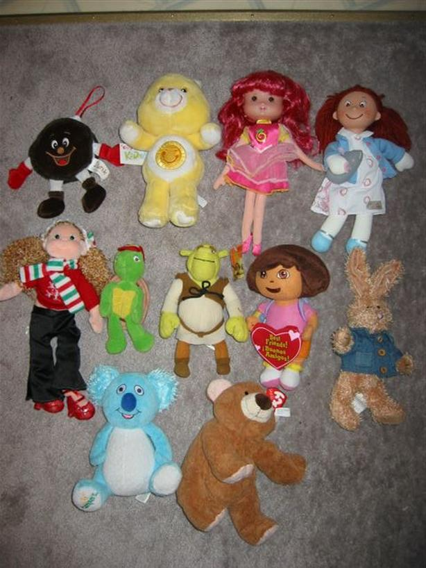 Stuffies & dolls $2 each in post only