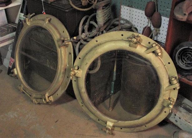 Cast iron porthole - Two available