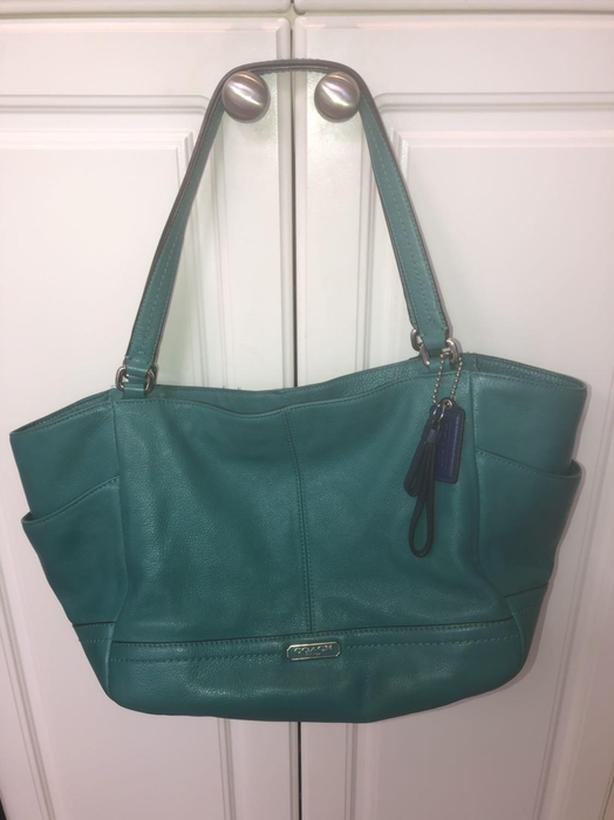 Coach Park smooth leather carryall