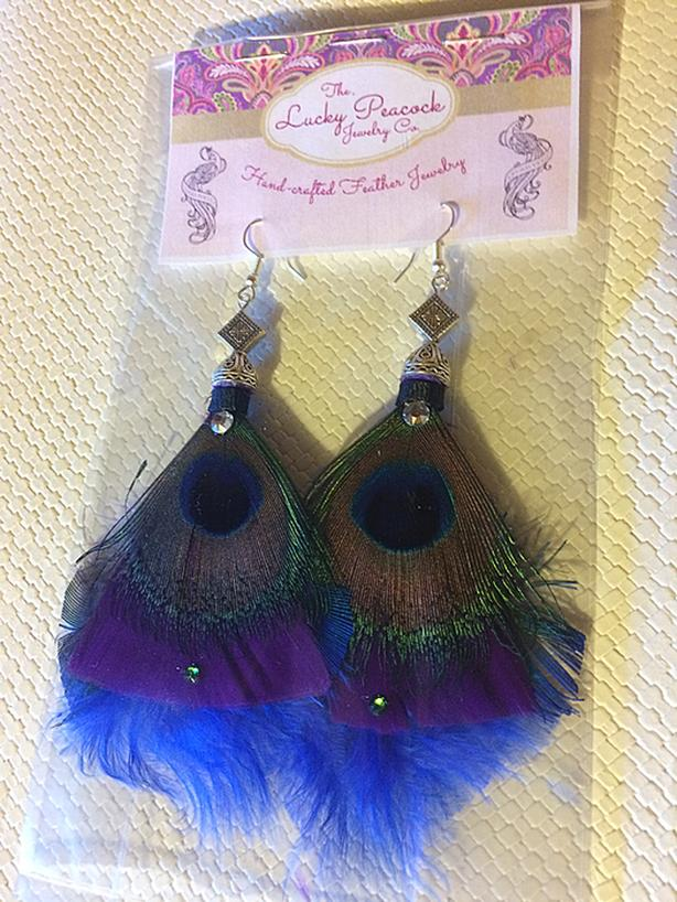 b7cc1bc4046d3f Colorful, Sassy Peacock Eye Earrings with Swarovski crystals ...