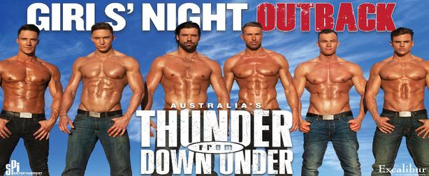 *** IMMEDIATE SALE *** Thunder From Down Under TOMORROW NIGHT 14 June 2019!