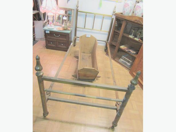 Vintage Brass Bed Frame - RETIREMENT SALE 50% OFF