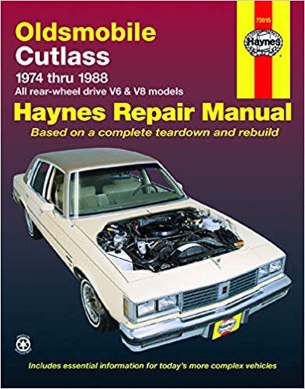 Haynes Repair Manual Oldsmobile Cutlass
