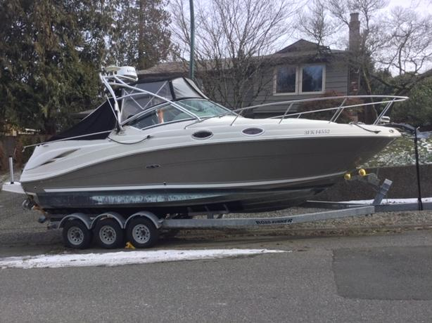 2006 Searay 270 amberjack cruising/sport fishing boat/w new trailer