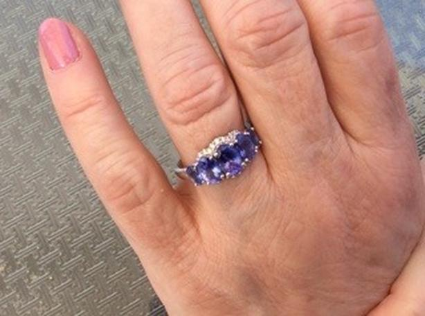 Beautiful tanzanite ring