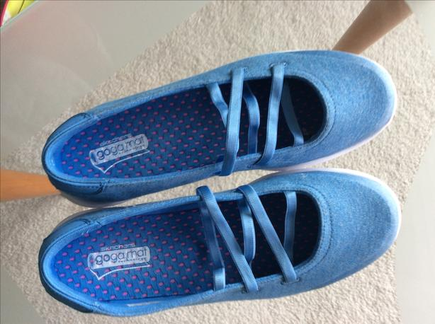 Skechers blue slip- ons - excellent condition