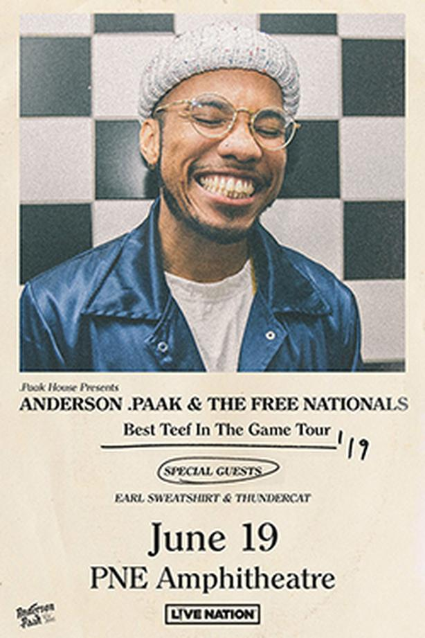 Anderson .Paak & The Free Nationals PNE Forum Vancouver