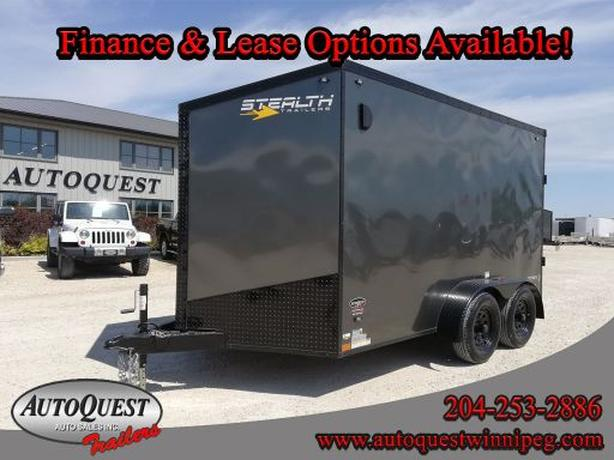 "2020 Stealth 7' x 12' x 78"" V-Nose Cargo Trailer - 7 000 lbs"