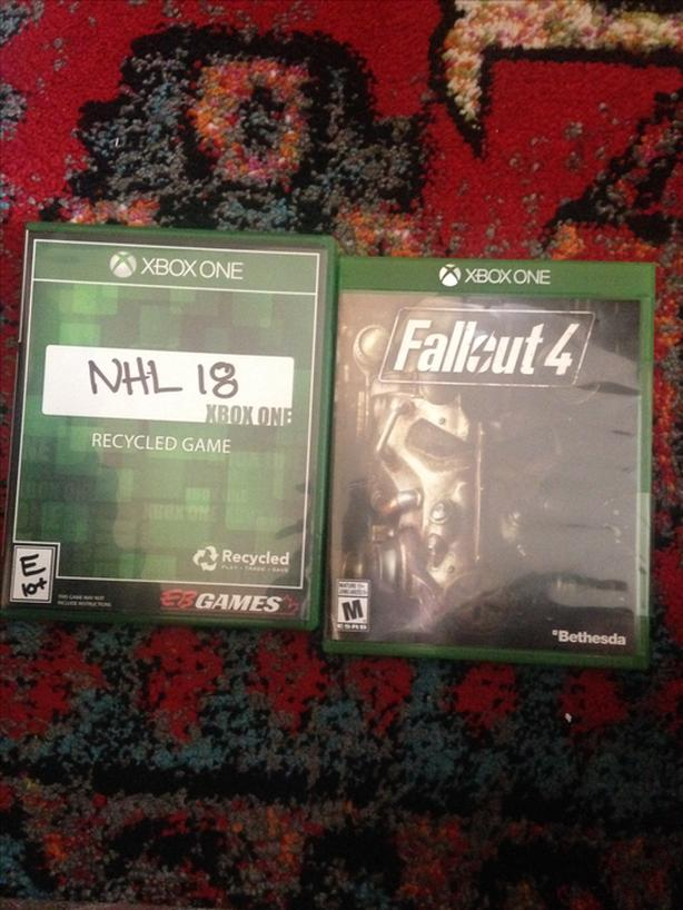 Xbox one games: Fallout 4 and NHL 18