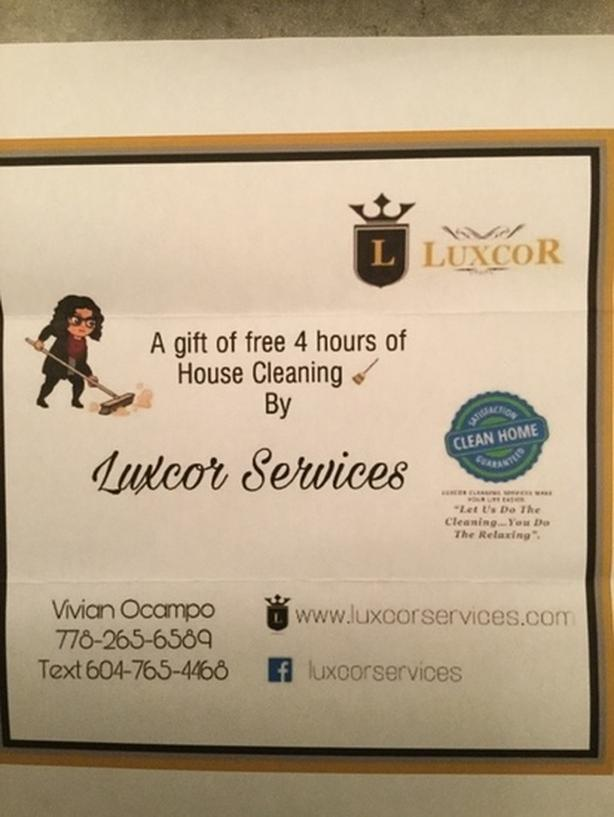 House Cleaning by Luxcor Services