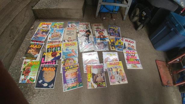 collection of mad magazines.