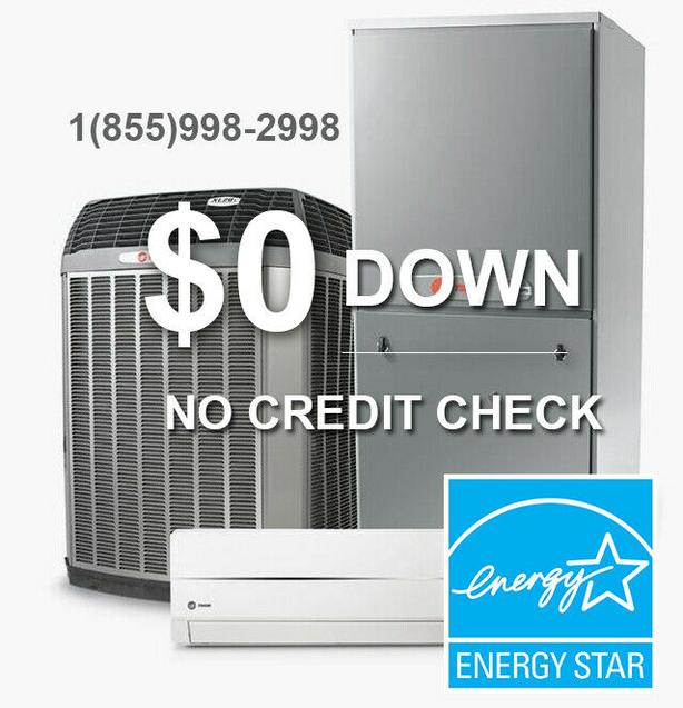 Central Air Conditioner - Furnace -No Credit Check