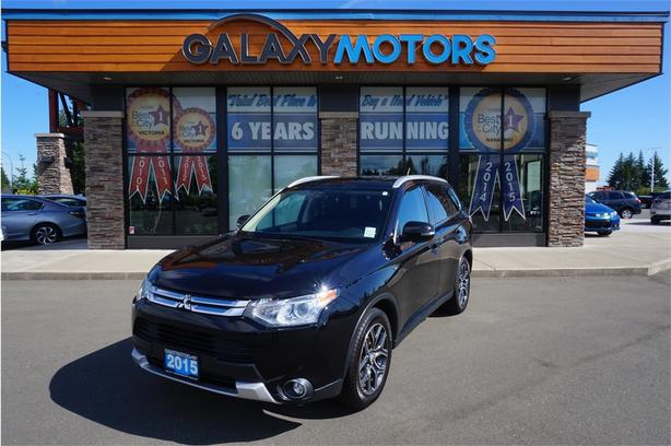 2015 Mitsubishi Outlander GT- AWD, Heated Leather Front Seats, Bluetooth