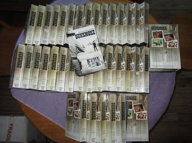  Log In needed $125 · Gunsmoke The Collector's Edition 35 different VHS  tapes (112 episodes)