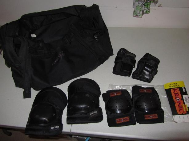 Roller Blade protective Gear and Sport Bag