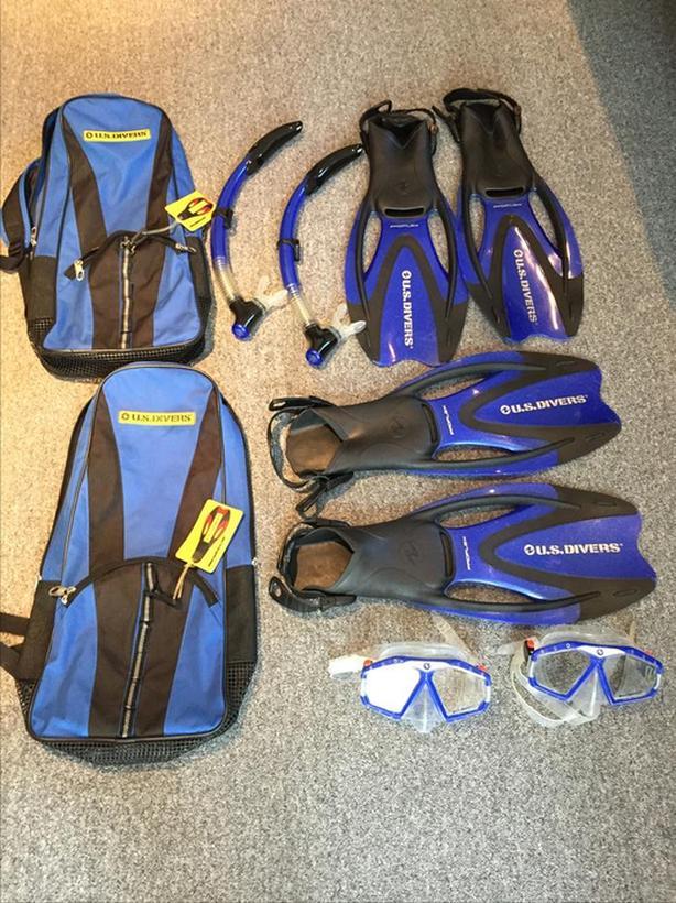 US Diver Snorkel set