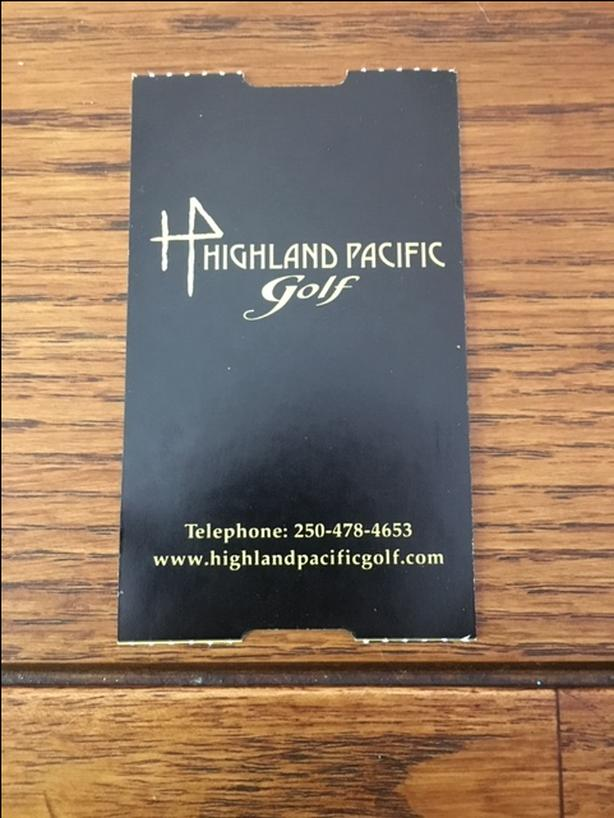 Highland Pacific Golf Pass for one round