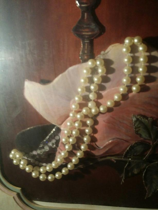 PEARLS . . & a ROSE..40yrs...