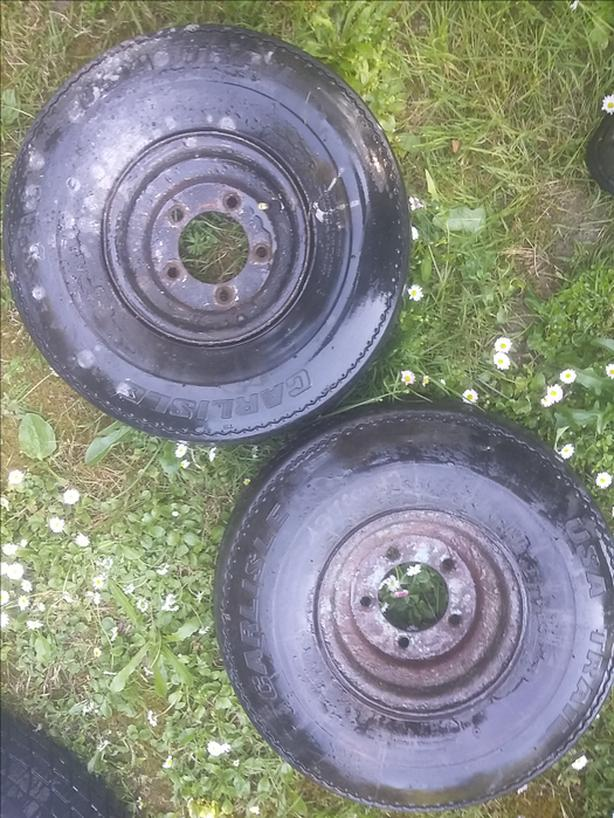 pair of 5 stud  trailer tires -