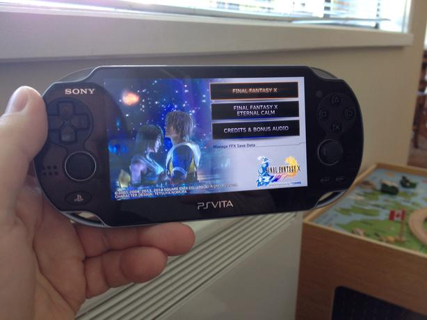PS Vita with Final fantasy X