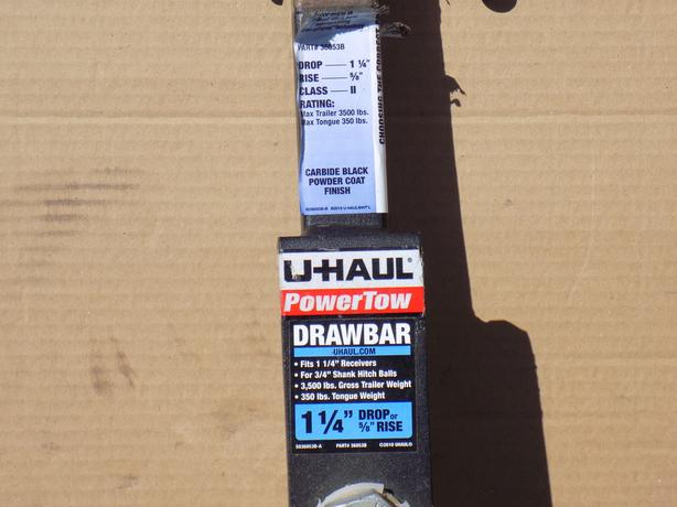 "Drawbar and ball for 1&1/4"" receiver"