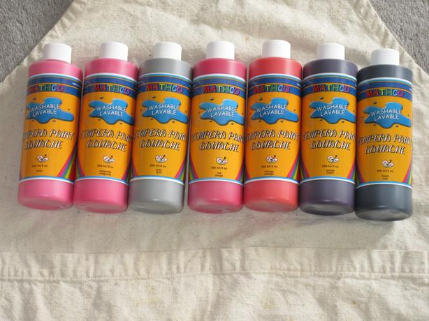 Tempera Paint & smock - $10