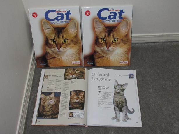 Cat Encyclopedia books Vol 1, 2, 3 - $4