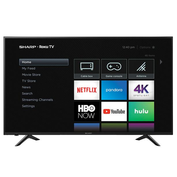 SUPER NEW SHARP 65 INCH LED ROKU TV-pick up this week!