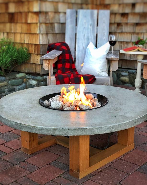 Artisan Concrete Fire Table