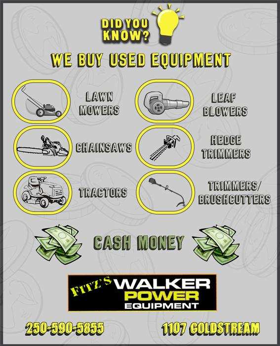 We Buy Used Lawn Mowers And Other Yard Equipment West