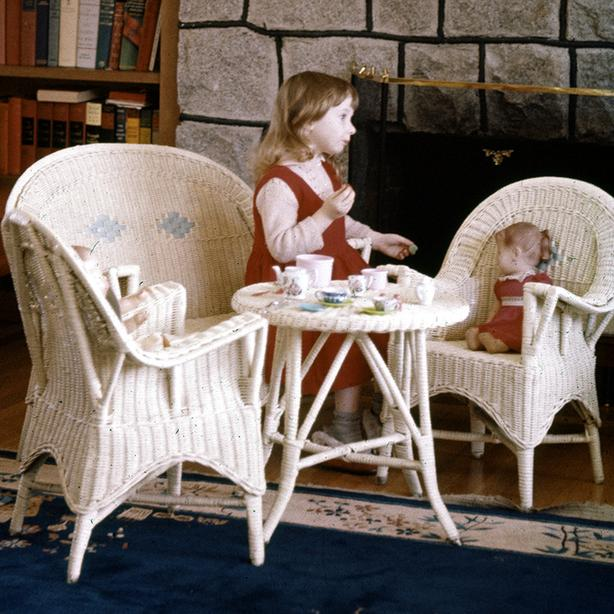 Children's wicker furniture set