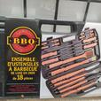 BBQ STAINLESS STEEL TOOL SETS (2) & CERAMIC BBQ BLOCKS – NEW