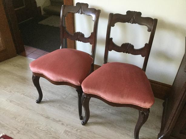 Pair of Classic Solid Oak Chairs