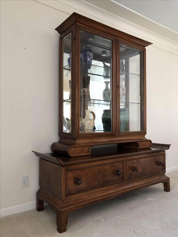 Edwardian display cabinet, about 100 years old, from Europe, beautiful!