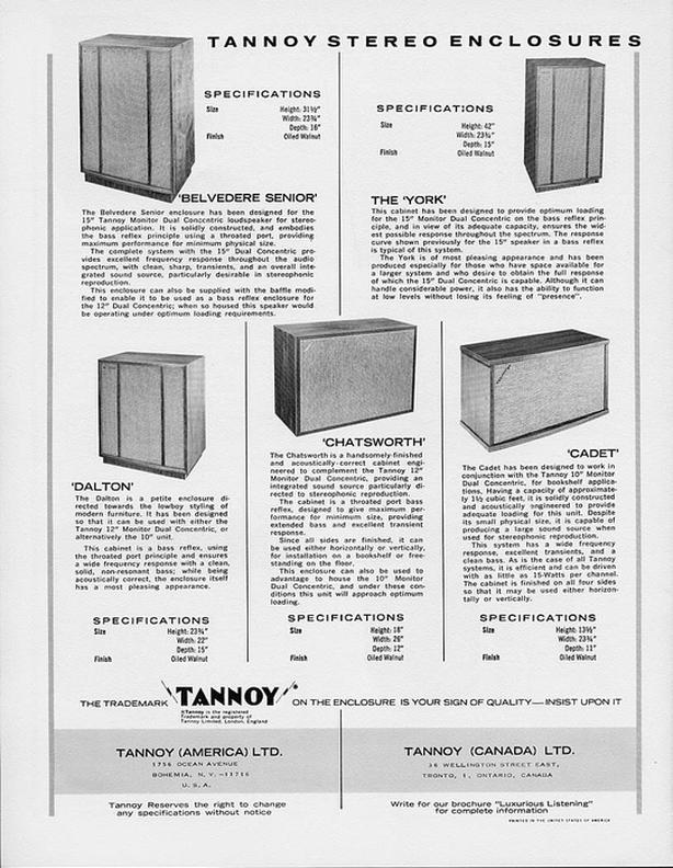 Seeking Vintage Tannoy Stereo Speakers
