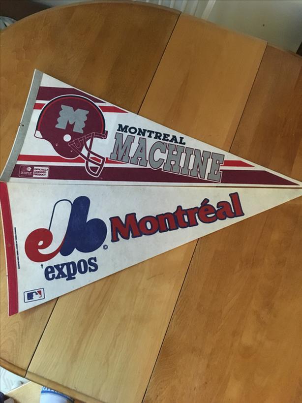 Vintage Montreal Expos & Montreal Machine Pennants
