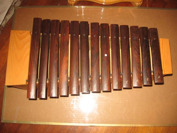Glockenspiel  made by ORFF percussion 13 wooden bars  +7 extra  bars
